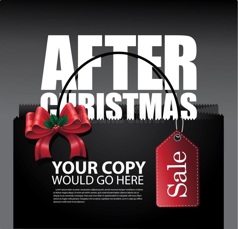 Après la disposition de sac de vente de Noël illustration stock