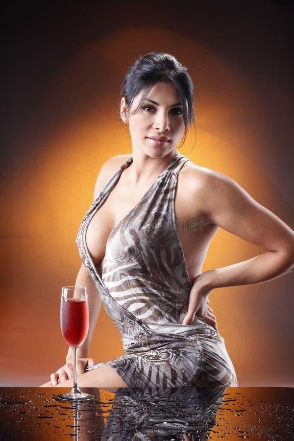 Après le bouchage de beaucoup de vin, photographie stock