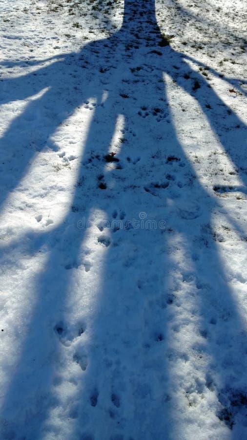 Après le paysage de neige photographie stock