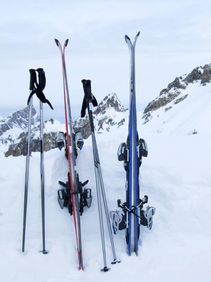 Après le ski photos libres de droits