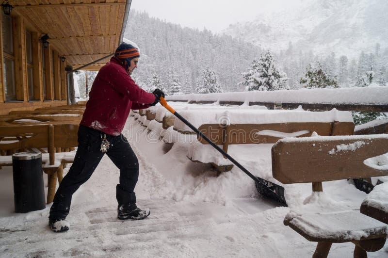 Après les chutes de neige Parc narodny de Tatransky Vysoke tatry slovakia photo stock