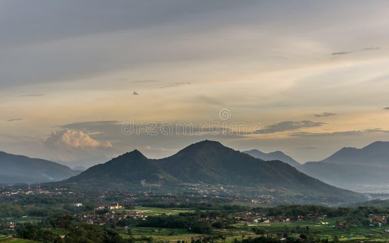 Après-midi au coin de Sumedang, Jawa Barat image stock