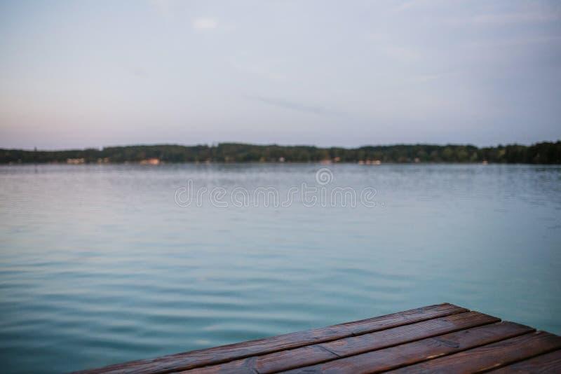 Après-midi au lac photo stock