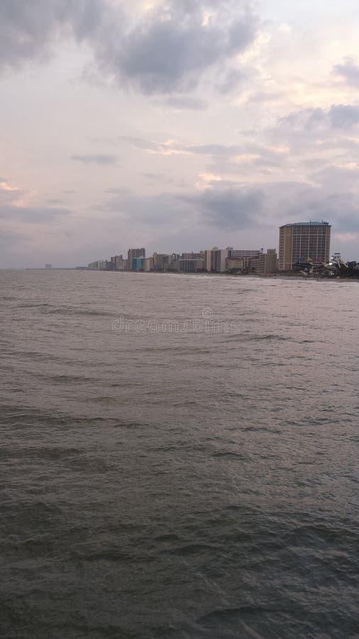 Après-midi calme d'océan photo libre de droits
