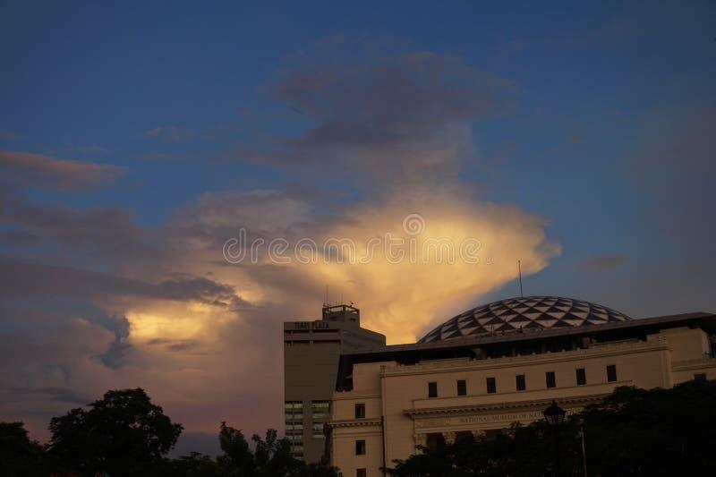 Après-midi sombre à Manille photographie stock libre de droits