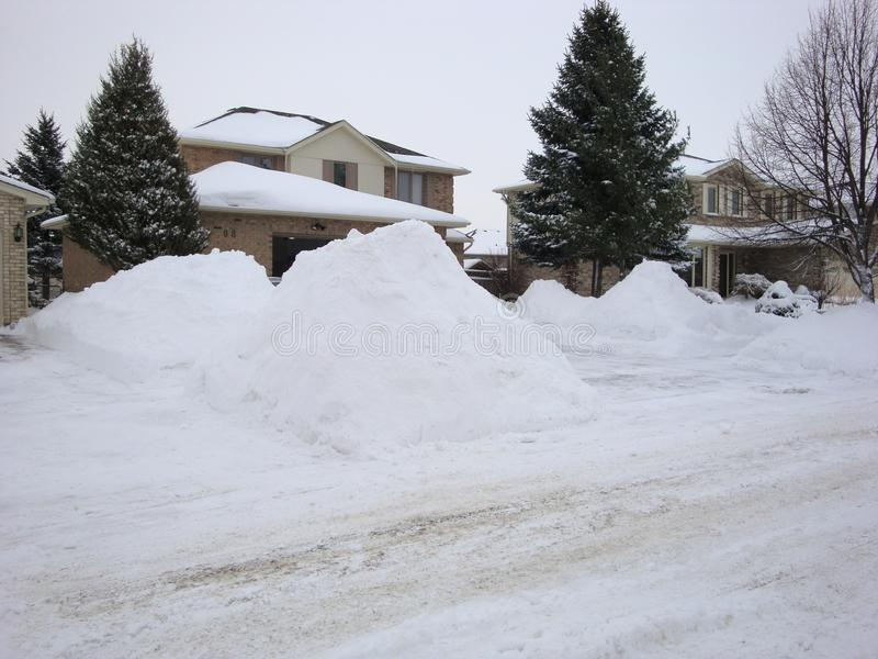 Après une tempête massive d'hiver à Londres Ontario photographie stock
