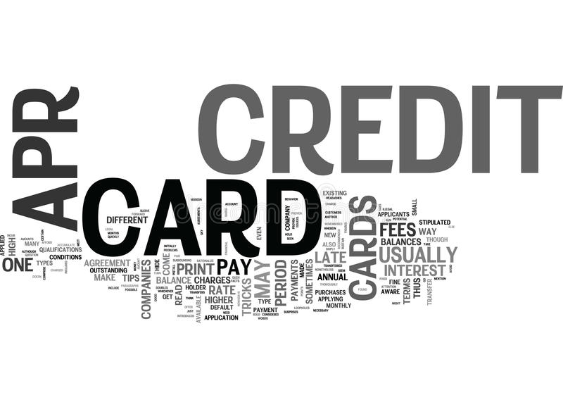 Apr Credit Cards Ok What S The Catch Word Cloud. APR CREDIT CARDS OK WHAT S THE CATCH TEXT WORD CLOUD CONCEPT royalty free illustration