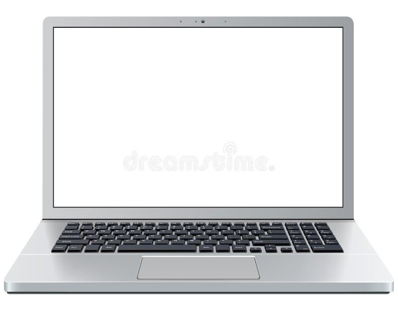 Apra il computer portatile illustrazione di stock