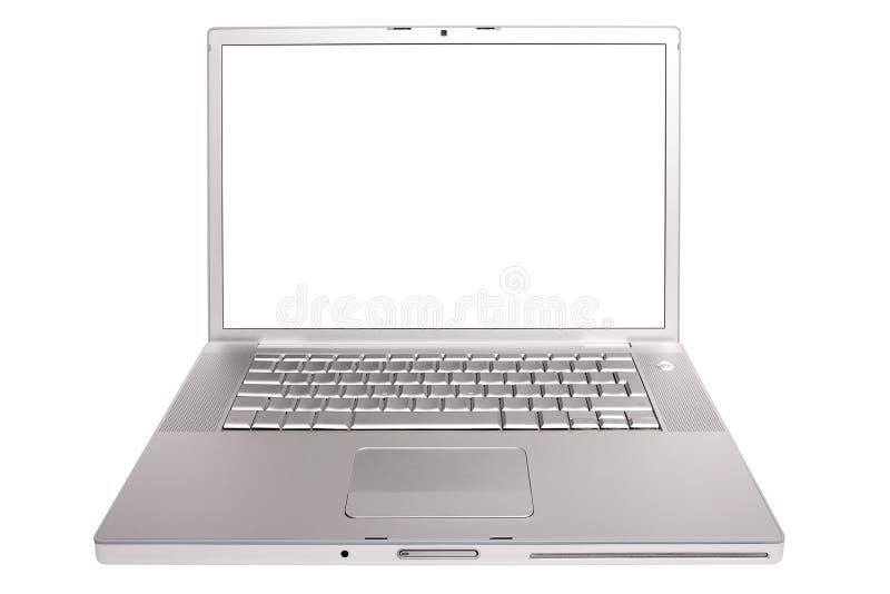 Apra il computer portatile. immagini stock libere da diritti
