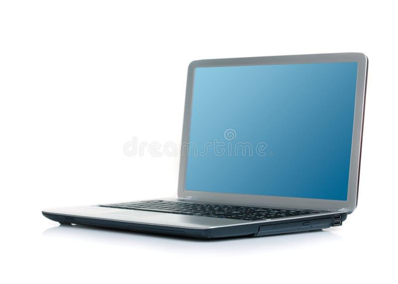 Apra il computer portatile fotografia stock