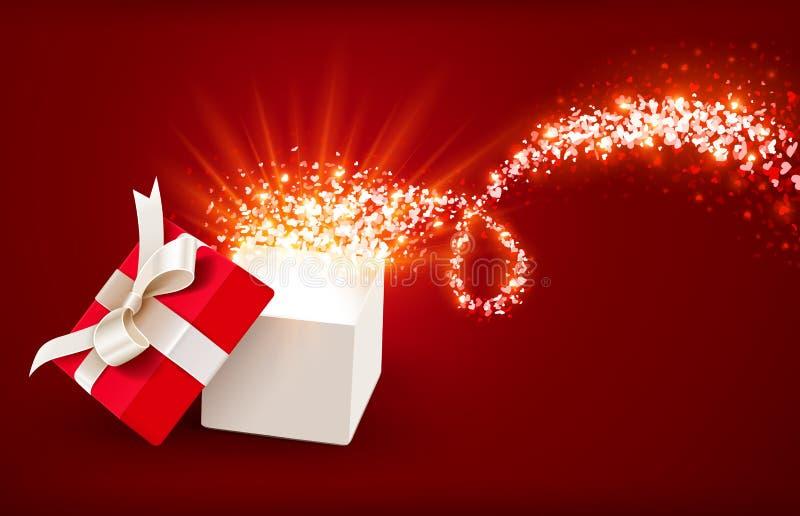 Apra il contenitore di regalo illustrazione di stock
