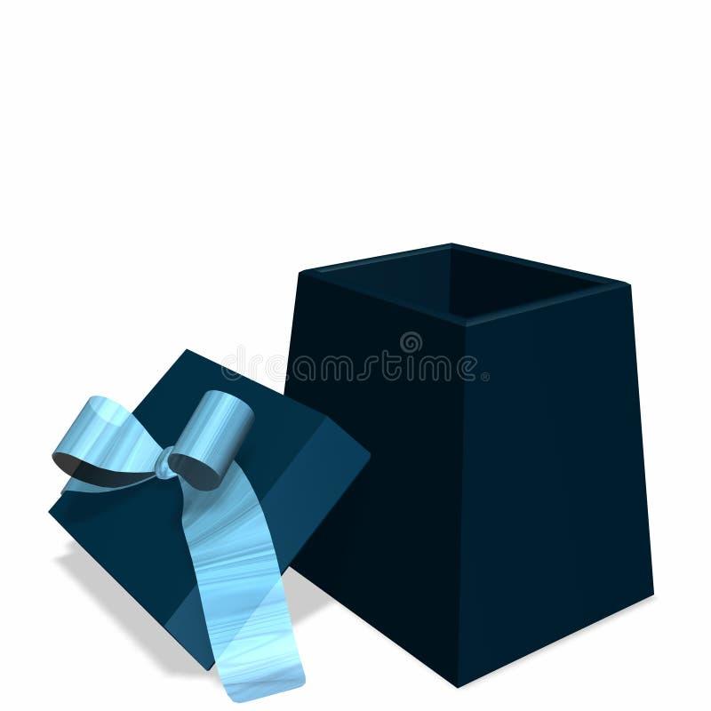 Apra il contenitore di regalo blu royalty illustrazione gratis