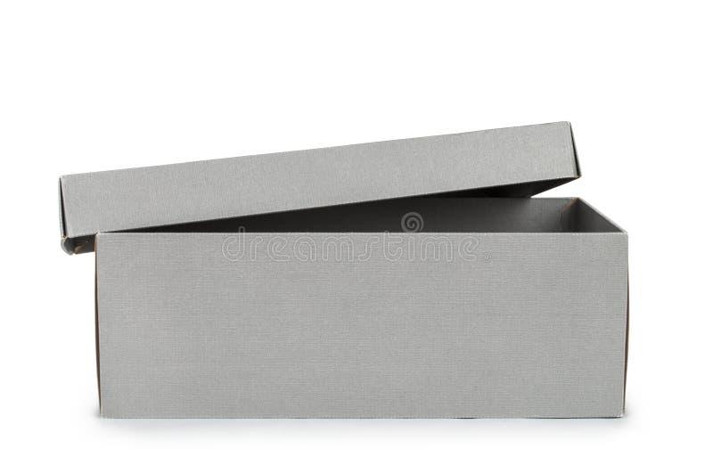 Apra il contenitore di scarpa grigio fotografie stock libere da diritti