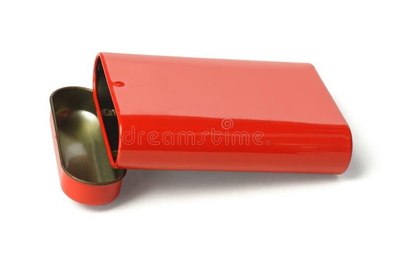 Apra il contenitore rosso di metallo immagine stock libera da diritti