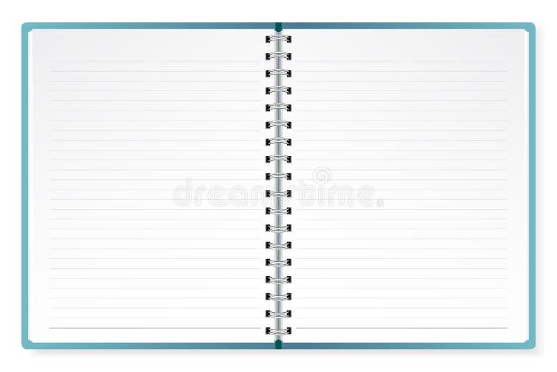 Apra il diario illustrazione di stock