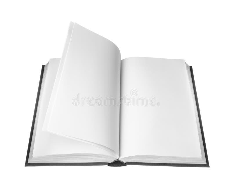 Apra il libro con le pagine in bianco fotografia stock libera da diritti