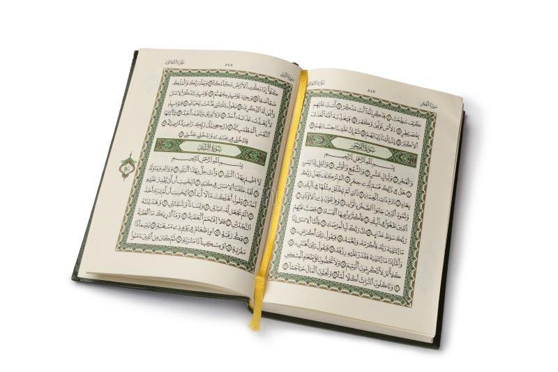 Apra il libro di Koran immagini stock