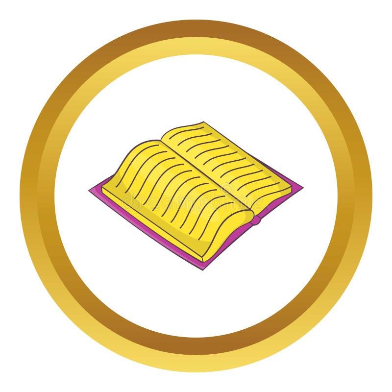 Apra il libro spesso con l'icona di vettore del testo illustrazione di stock