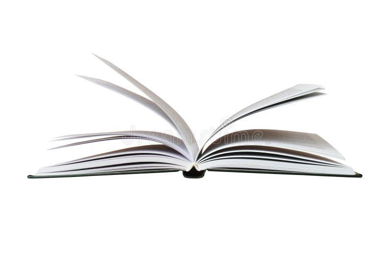 Apra il libro su bianco fotografia stock libera da diritti