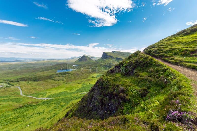 Apra il paesaggio sull'isola di Skye fotografia stock libera da diritti