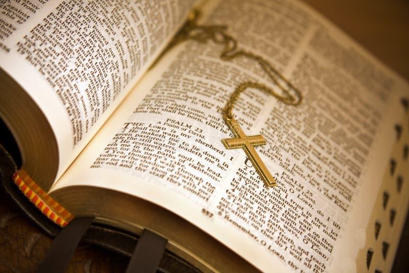 Apra il salmo 23 della bibbia fotografia stock