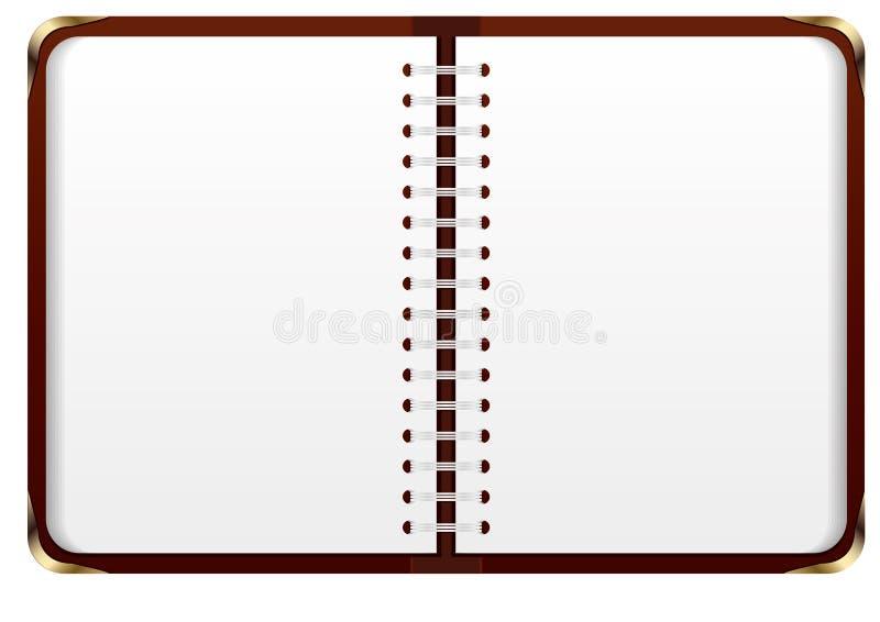 Apra il taccuino illustrazione di stock