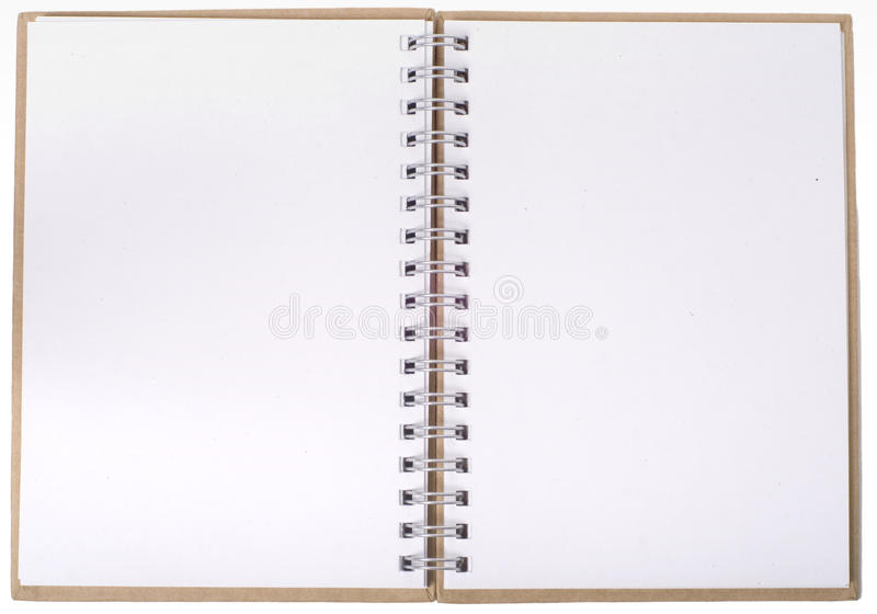Apra il taccuino con le pagine vuote immagine stock libera da diritti