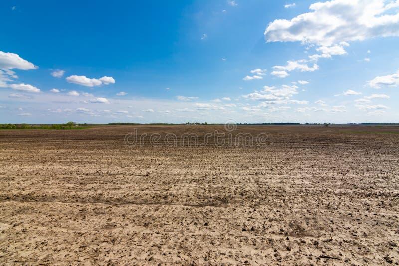 Apra il terreno coltivabile immagine stock