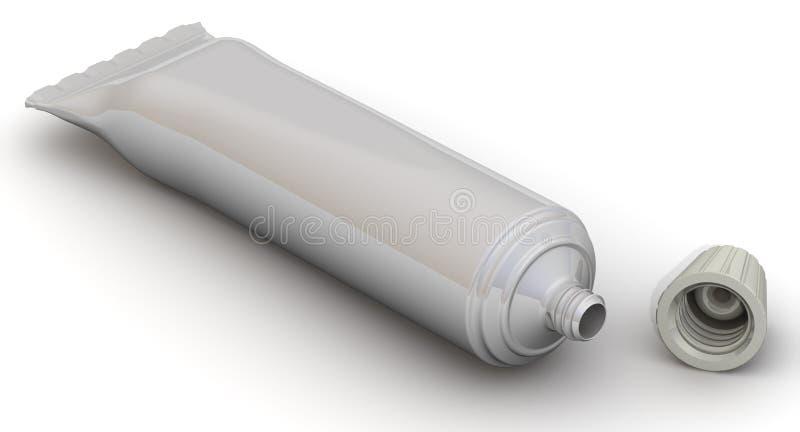 Apra il tubo con crema illustrazione vettoriale