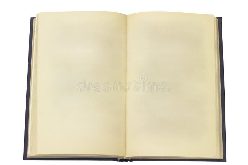 Apra il vecchio libro. Pagina senza il testo fotografie stock libere da diritti