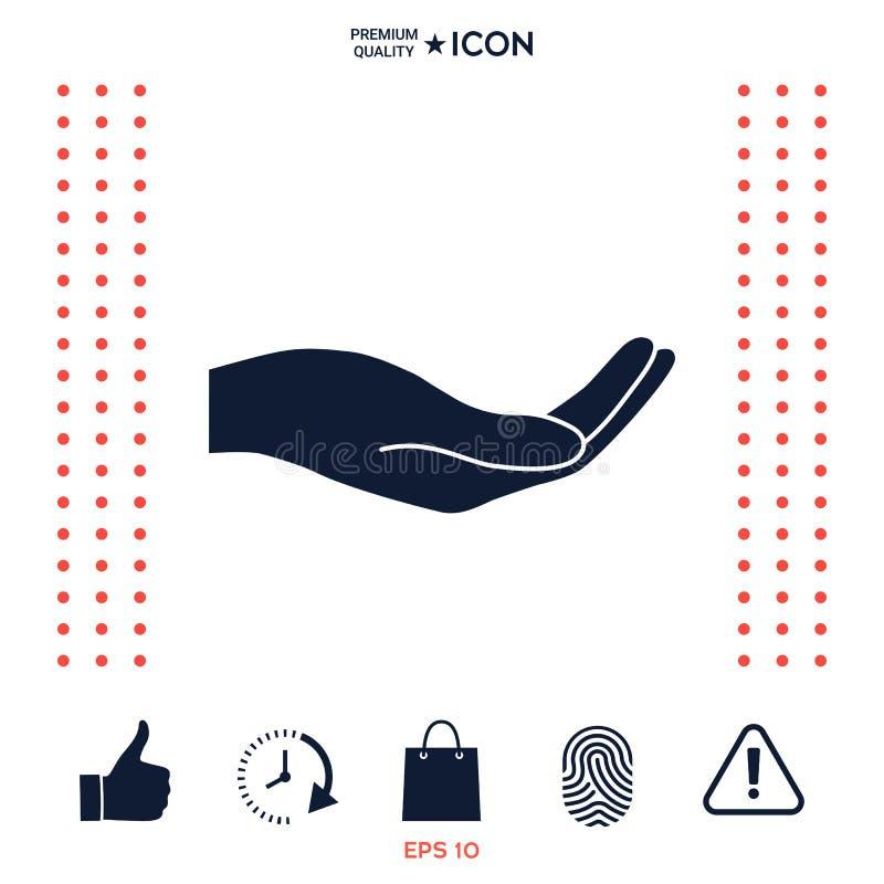 Download Apra l'icona della mano illustrazione vettoriale. Illustrazione di aperto - 117976145