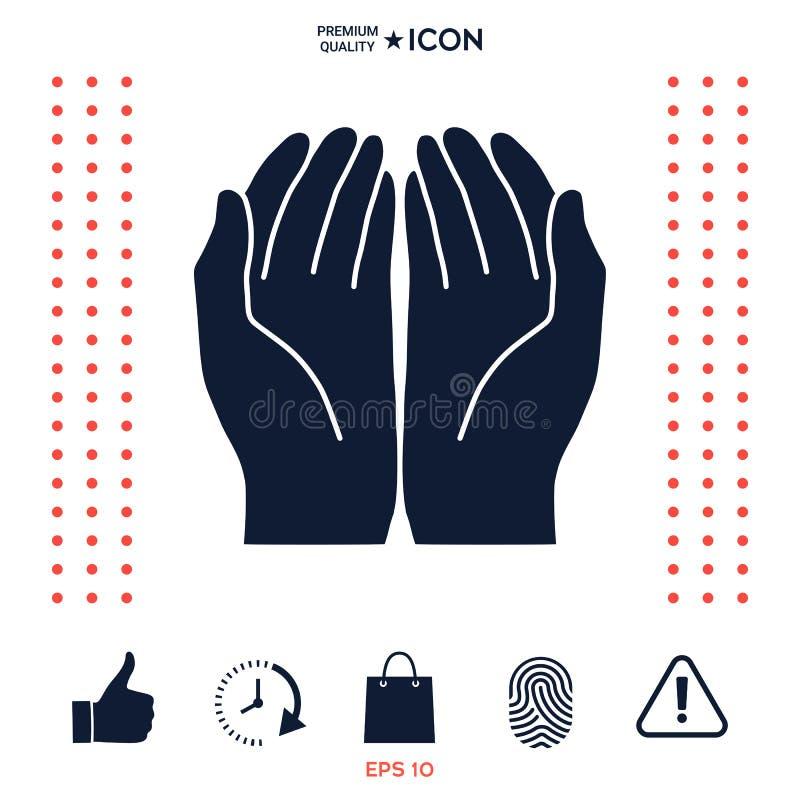Download Apra l'icona delle mani illustrazione vettoriale. Illustrazione di give - 117976182