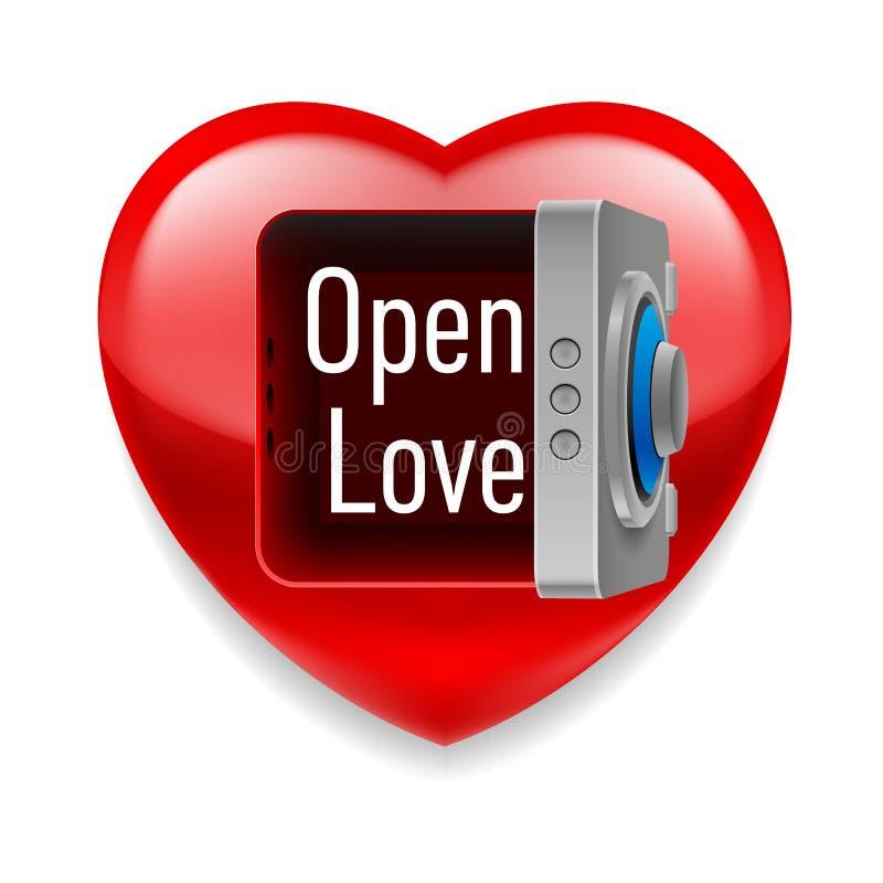 Apra l'immagine di amore illustrazione vettoriale
