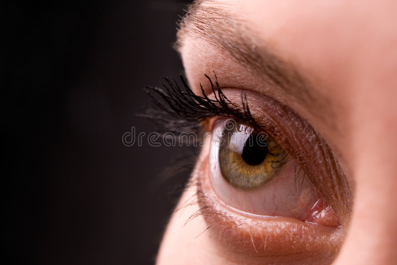 Apra l'occhio immagine stock