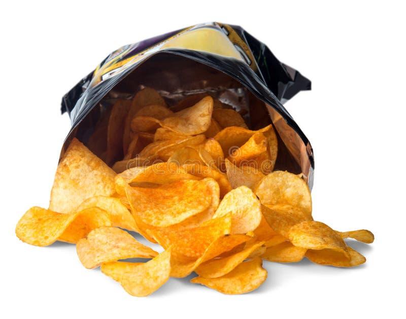 Download Apra la borsa dei chip immagine stock. Immagine di fritto - 117976903