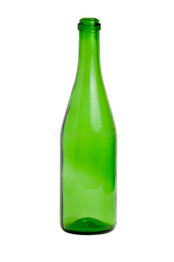 Apra la bottiglia vuota del champagne immagini stock libere da diritti
