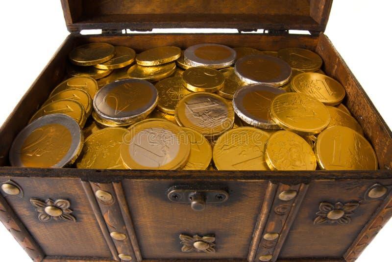 Apra la casella in pieno con soldi fotografie stock libere da diritti