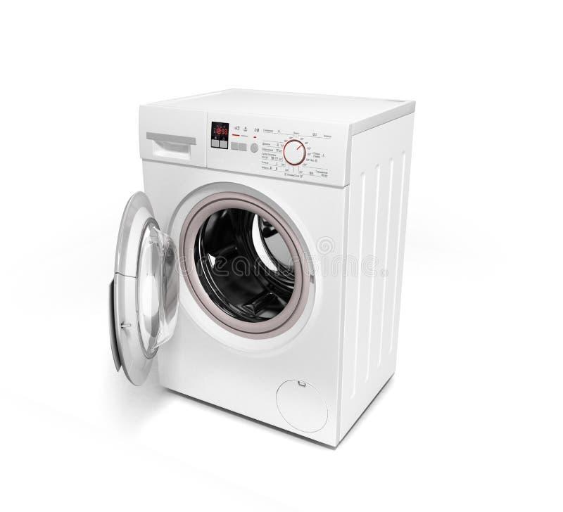 Apra la lavatrice sull'illustrazione bianca del fondo 3D royalty illustrazione gratis