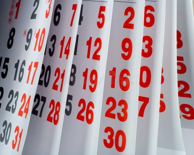 Apra la pagina del calendario immagine stock