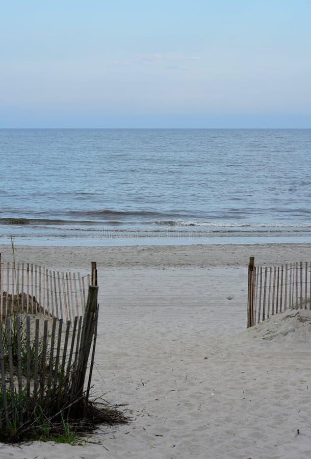 Apra la vista dell'Oceano Atlantico a Myrtle Beach fotografia stock