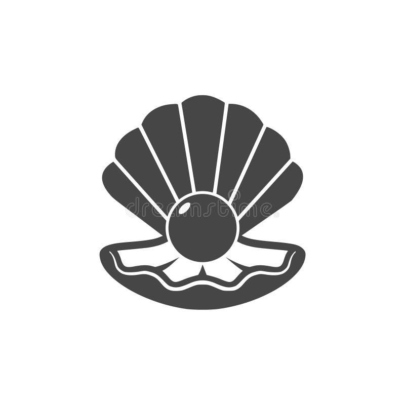 Apra le coperture con un'icona della perla illustrazione vettoriale