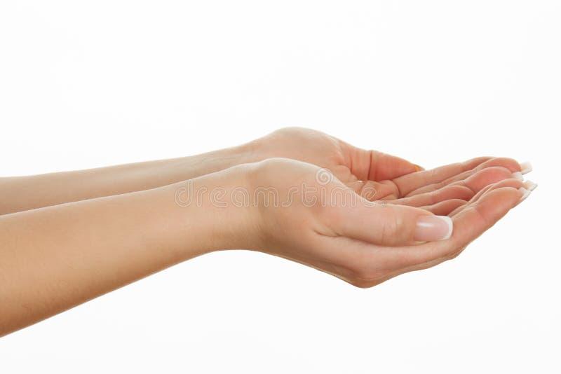 Apra le mani vuote. fotografie stock