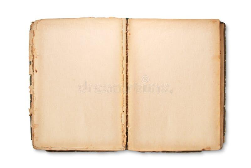 Apra le pagine di vecchio libro fotografie stock libere da diritti