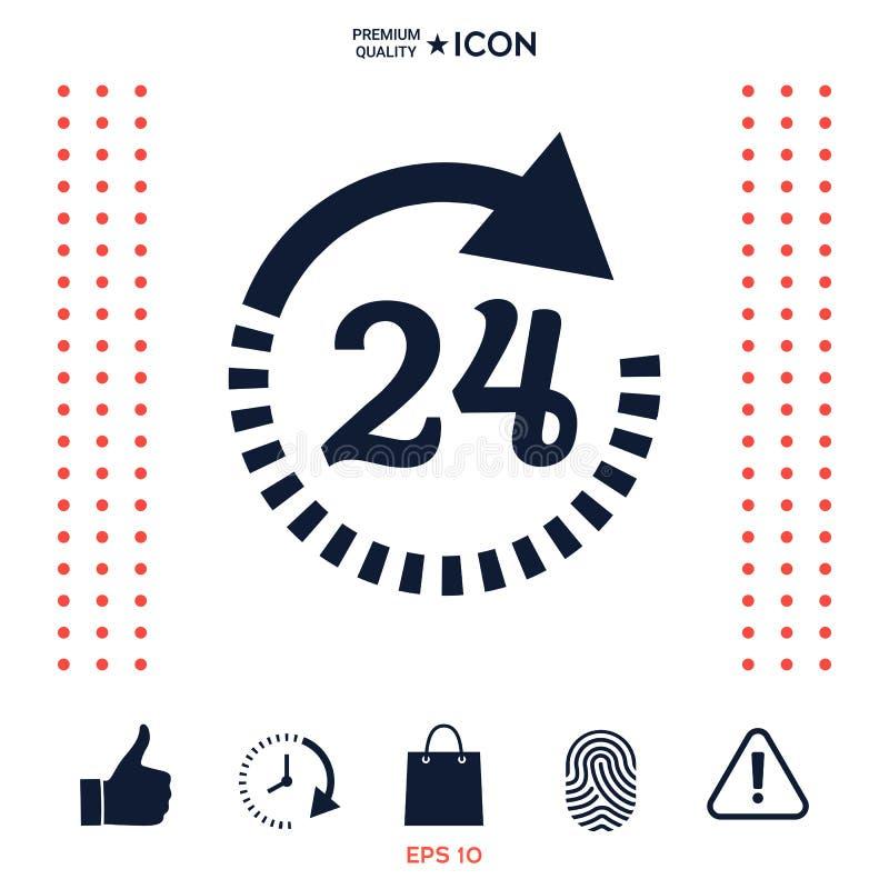 Download Apra Ventiquattr'ore Su Ventiquattro L'icona Di Simbolo Icona Di Ore Di Apertura Illustrazione Vettoriale - Illustrazione di isolato, retro: 117976108