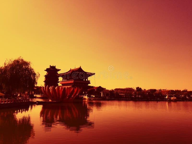 Aprecia??o antiga chinesa da arquitetura imagem de stock royalty free