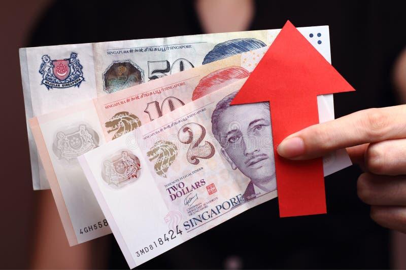 Apreciação do dólar de Cingapura imagens de stock royalty free