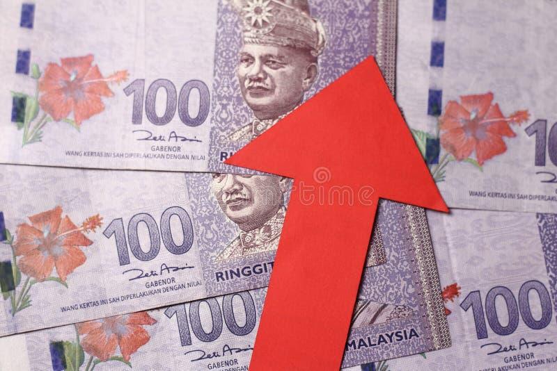 Apreciação do ringgit malaio imagens de stock royalty free