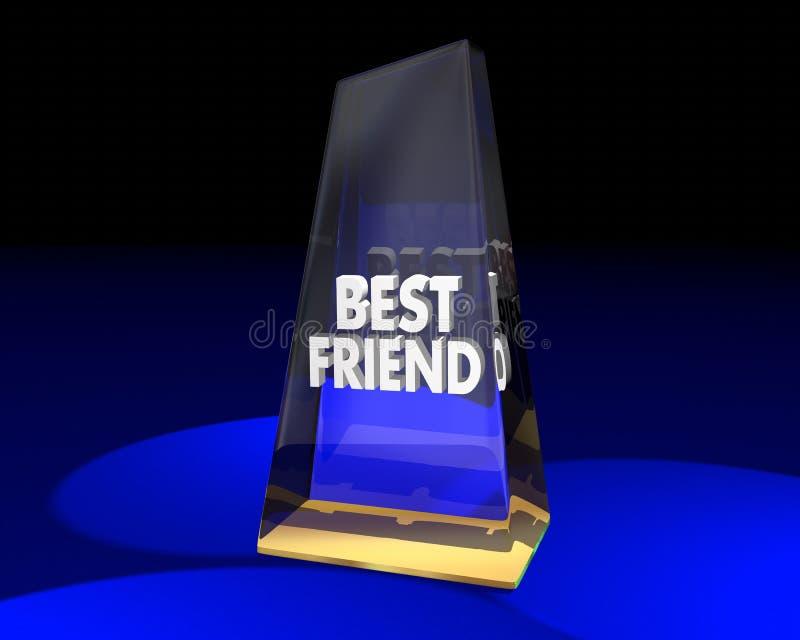 Apreciação premiada do vencedor do troféu da concessão do melhor amigo ilustração stock