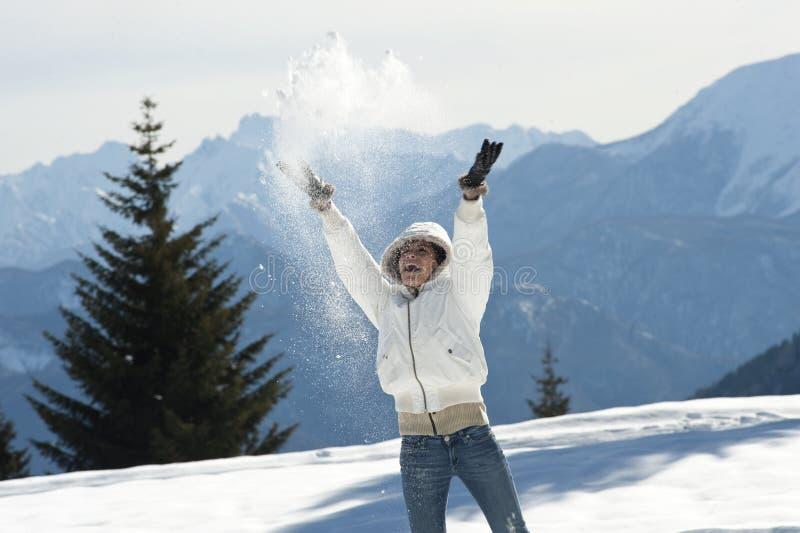 Apreciando O Inverno Imagens de Stock Royalty Free