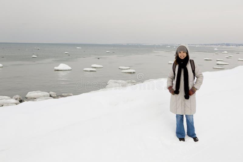 Apreciando o inverno fotografia de stock royalty free